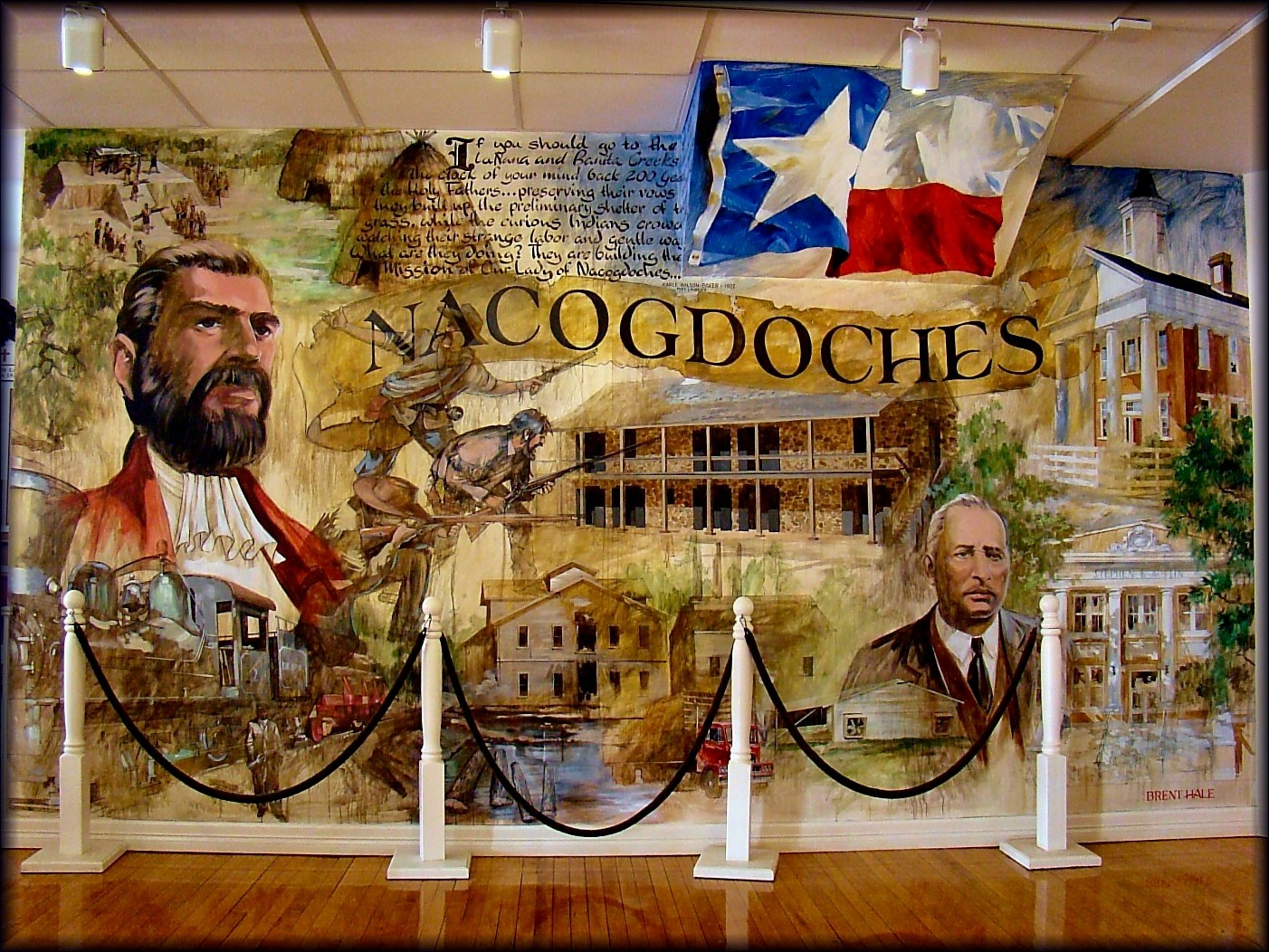 Picture of the Mural at the Historic Town Center in Nacogdoches