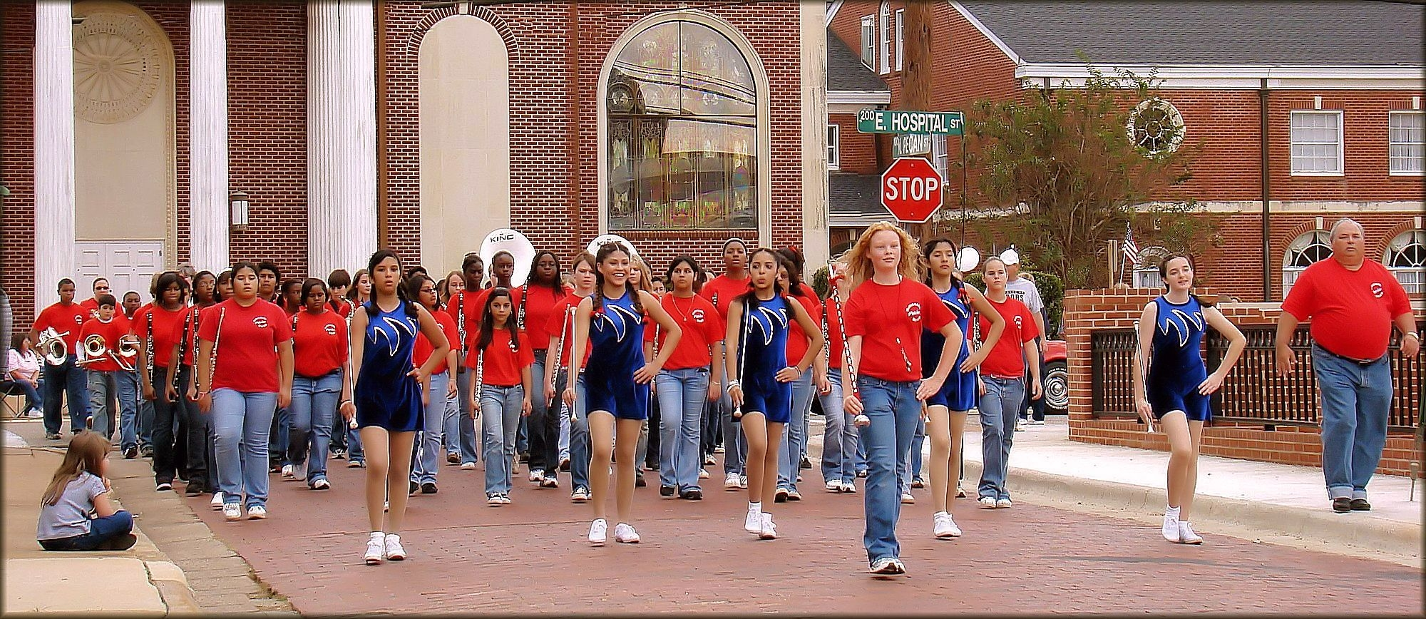McMichael Middle School Band at the Veterans Day Parade in Historic Nacogdoches