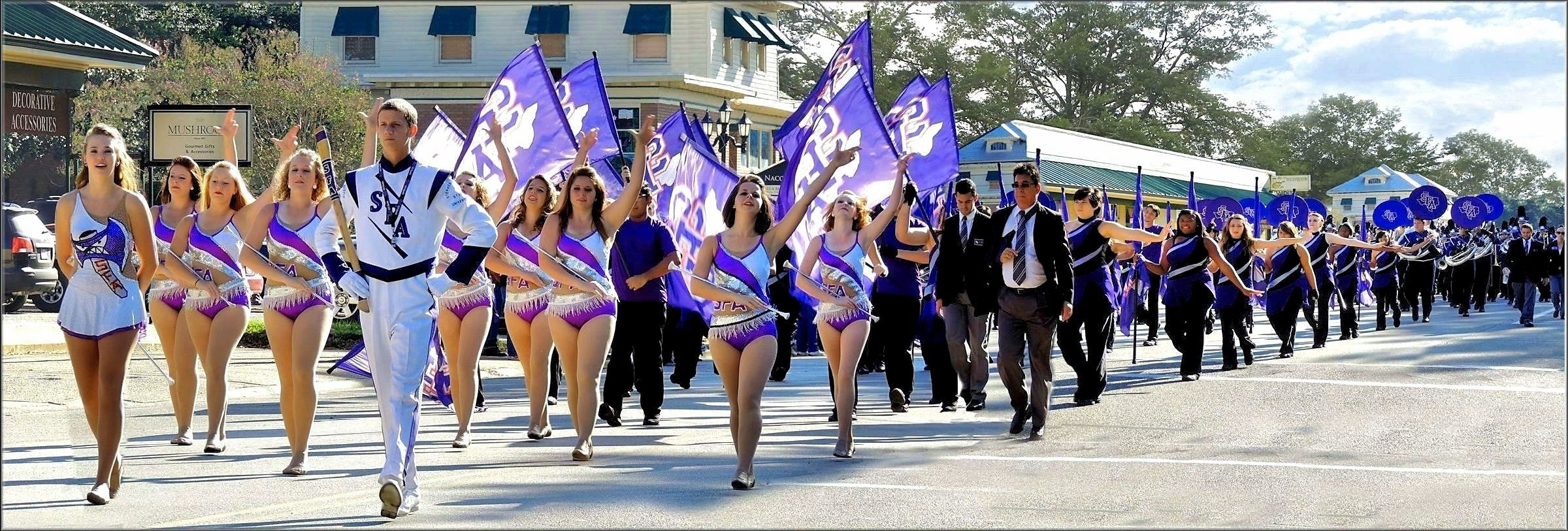 Picture of the Stephen F. Austin State University Lumberjack Band