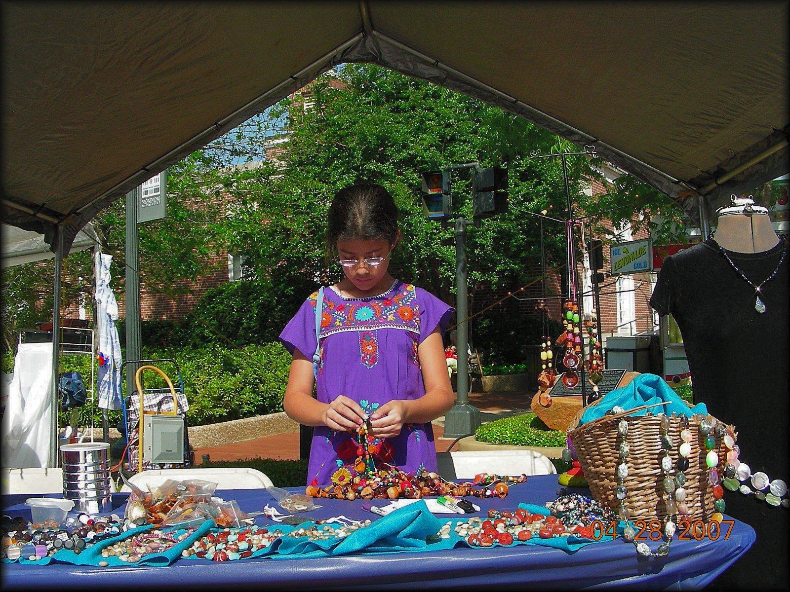 Counting Beads at the Multicultural Festival in Historic Nacogdoches