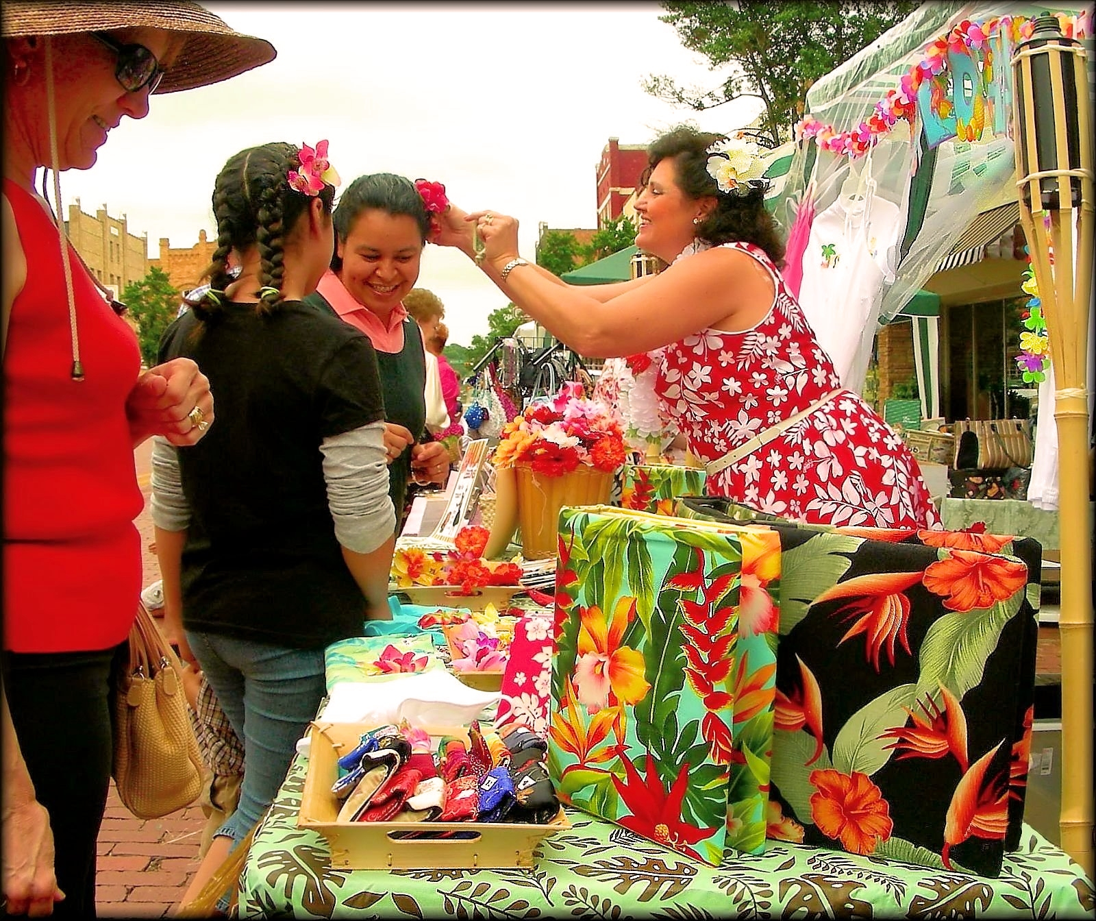 Flower Booth at the Multicultural Festival in Historic Nacogdoches
