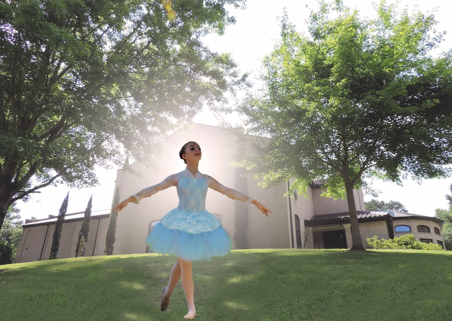 Ballerina in Blue at the Sacred Heart Multicultural Festival in Historic Nacogdoches
