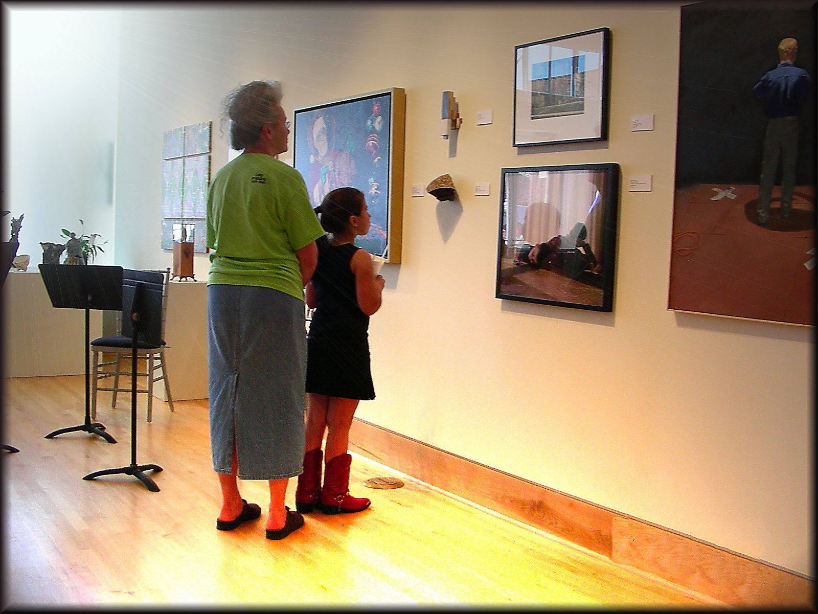 Exhibition in the SFA Art Gallery at the Multicultural Festival in Historic Nacogdoches