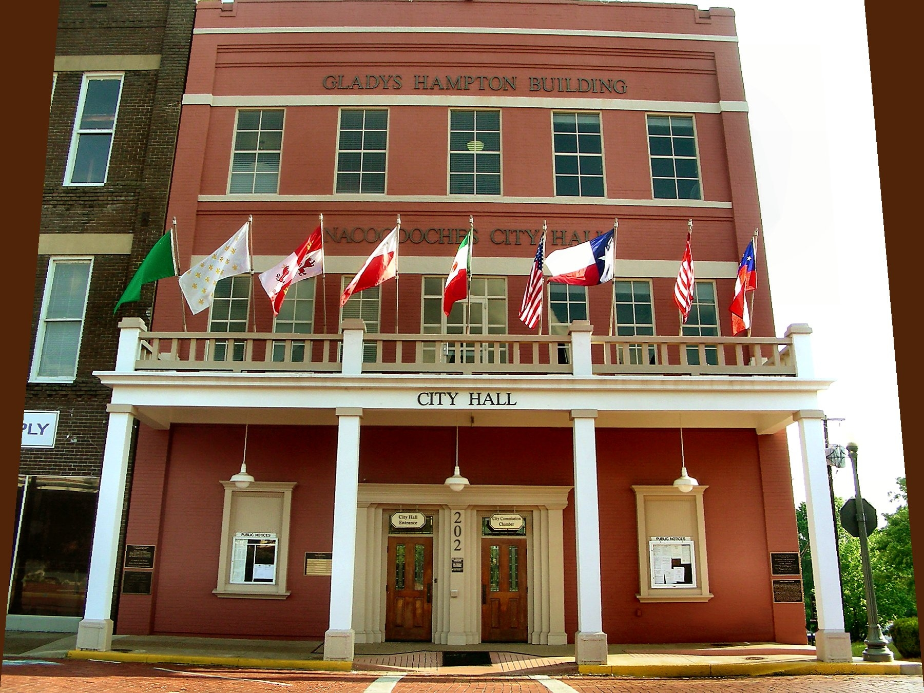 City Hall at 202 Pilar St. in Historic Nacogdoches