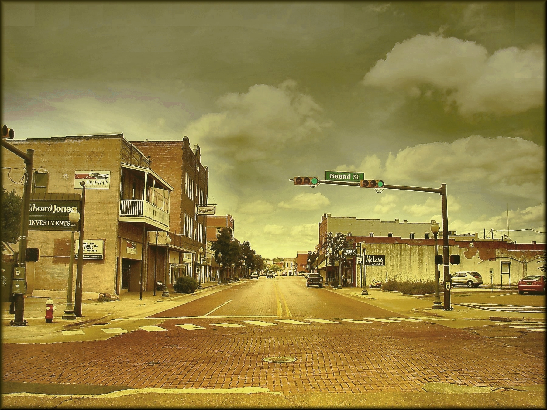 The View West from East Main and Mound St. in Downtown Historic Nacogdoches