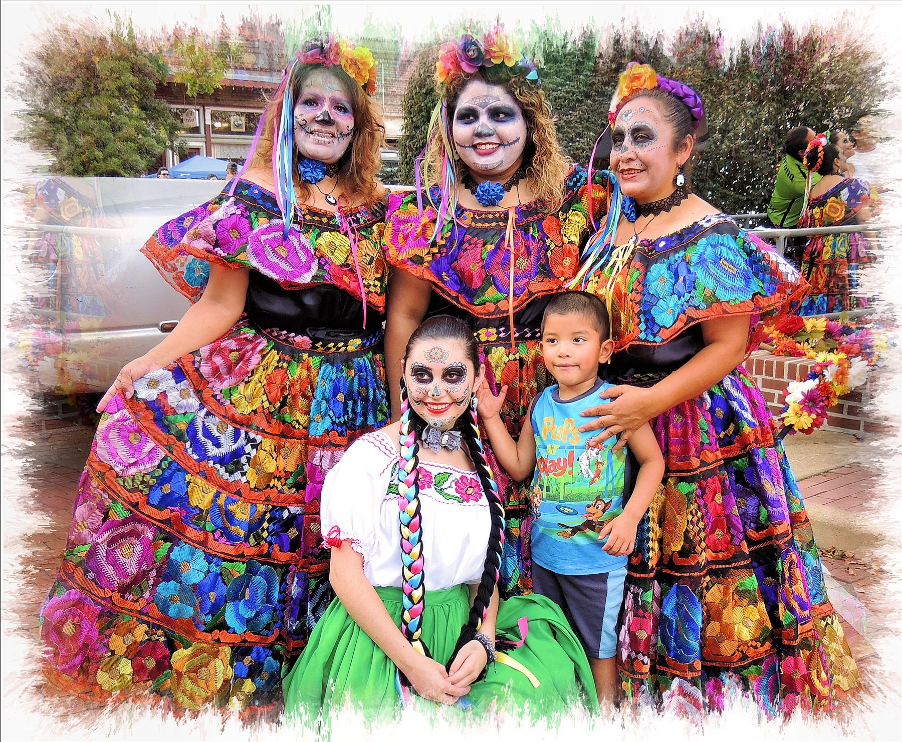 The Ketzaly Folkorica Mexicana Dancers at the Dios de Los Muertos Festival in Historic Nacogdoches