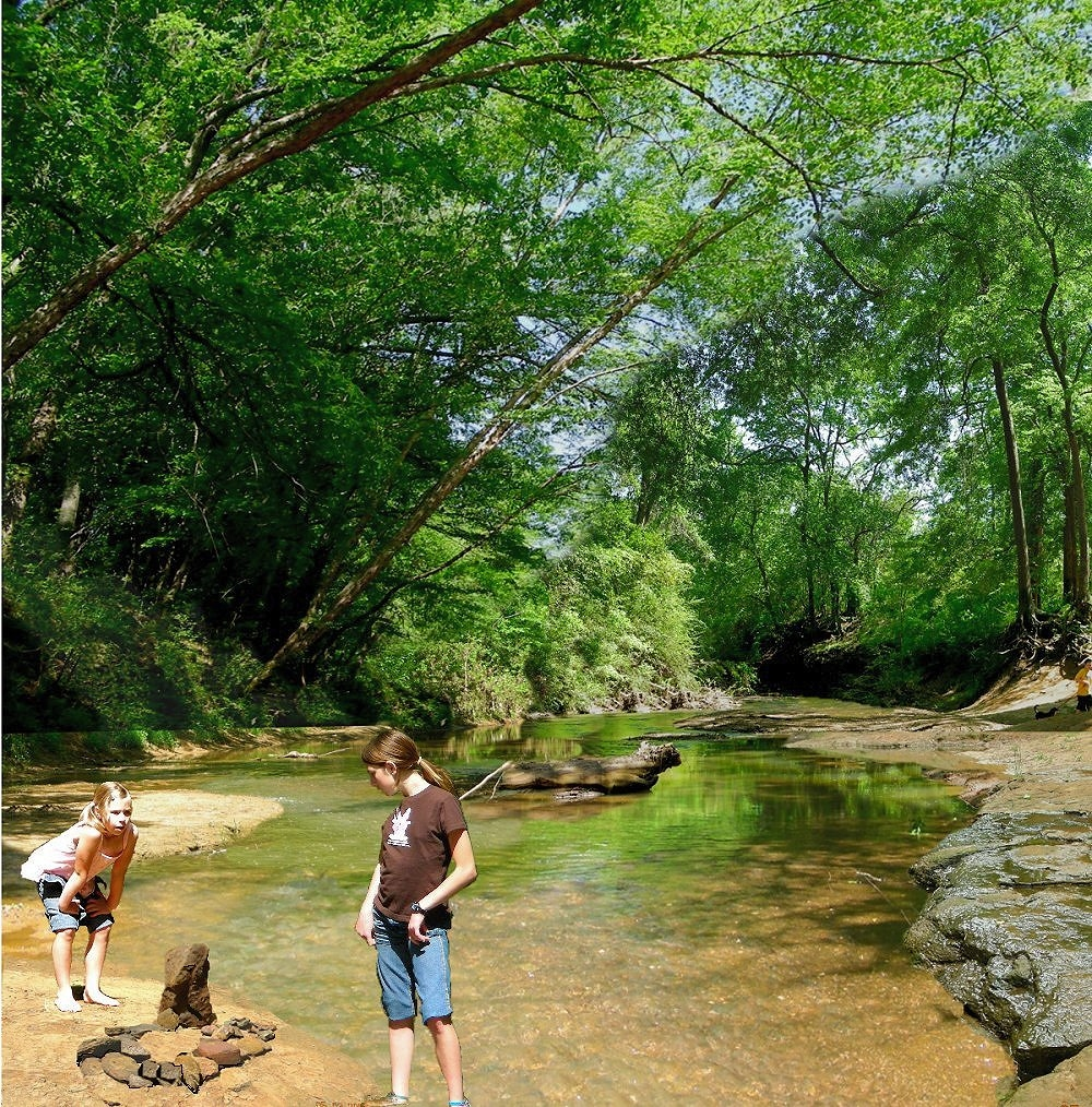 La Nana Creek in Historic Nacogdoches