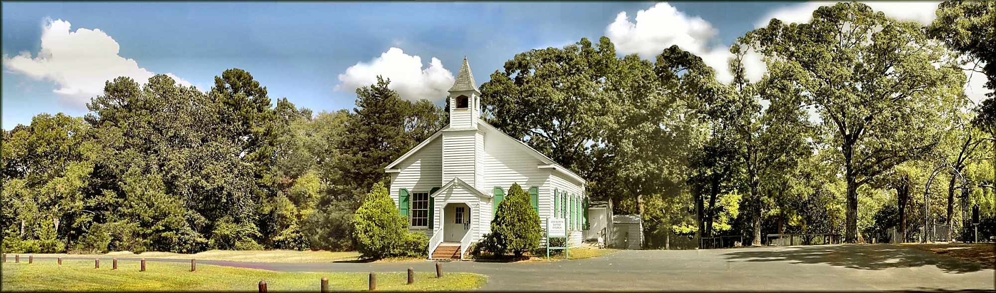 Old North Baptist Church in Historic Nacogdoches County Texas