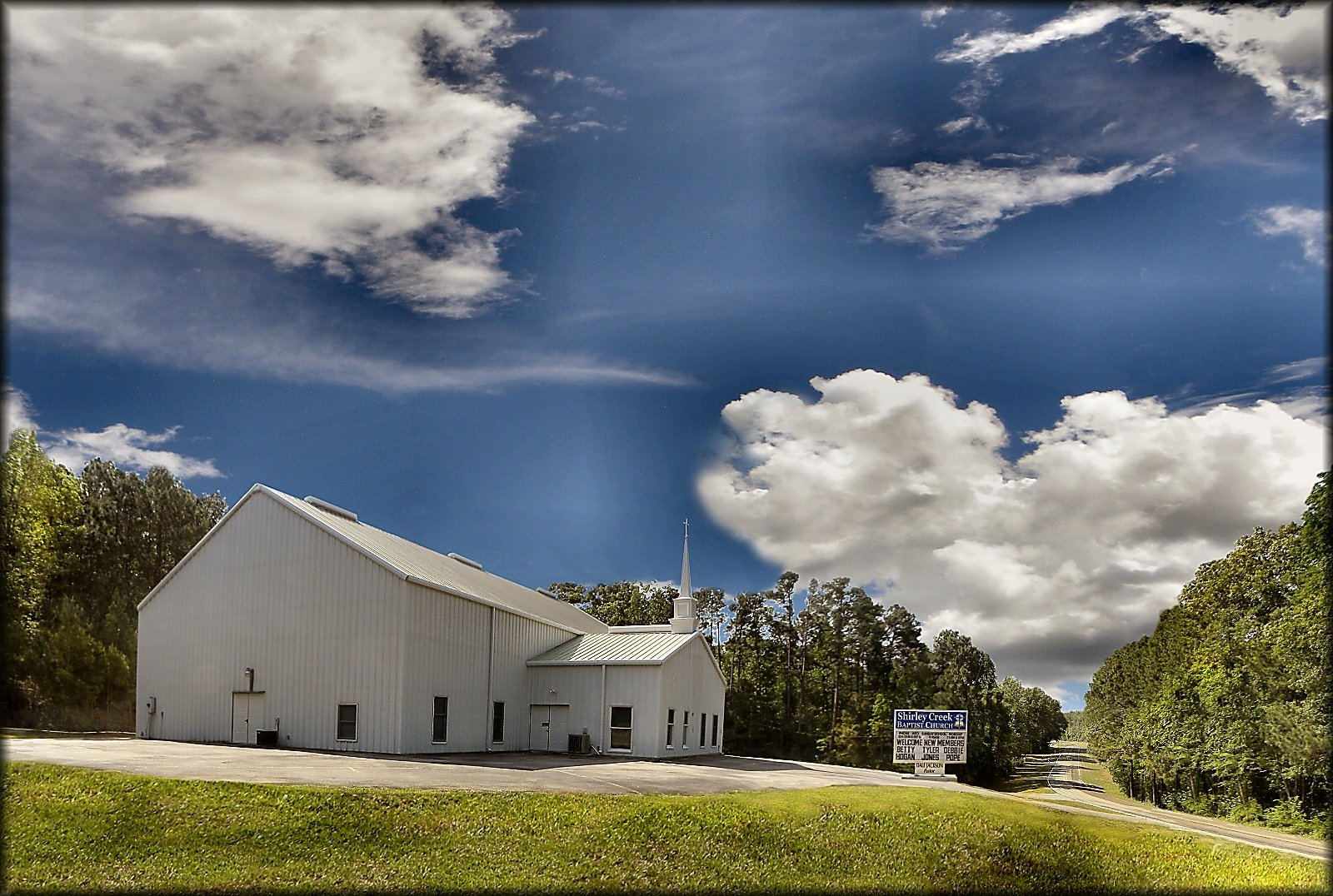 Shirley Creek Baptist Church at Etoile, Texas in Historic Nacogdoches County