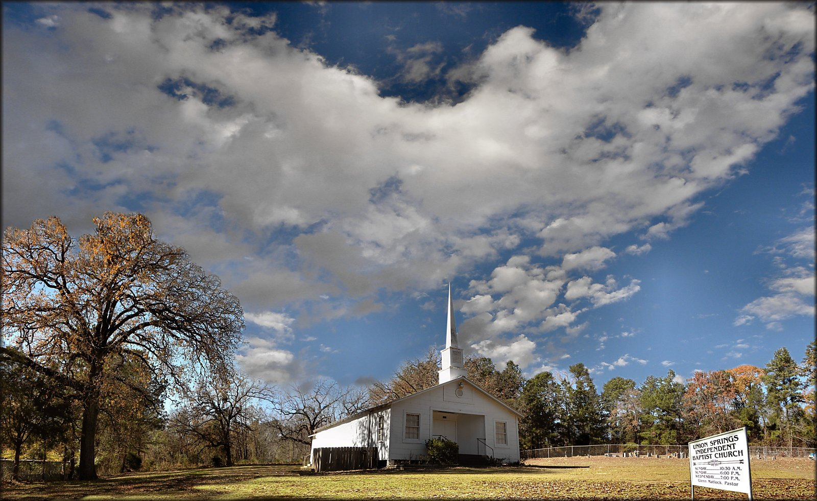Union Springs Independent Baptist Church in Historic Nacogdoches County