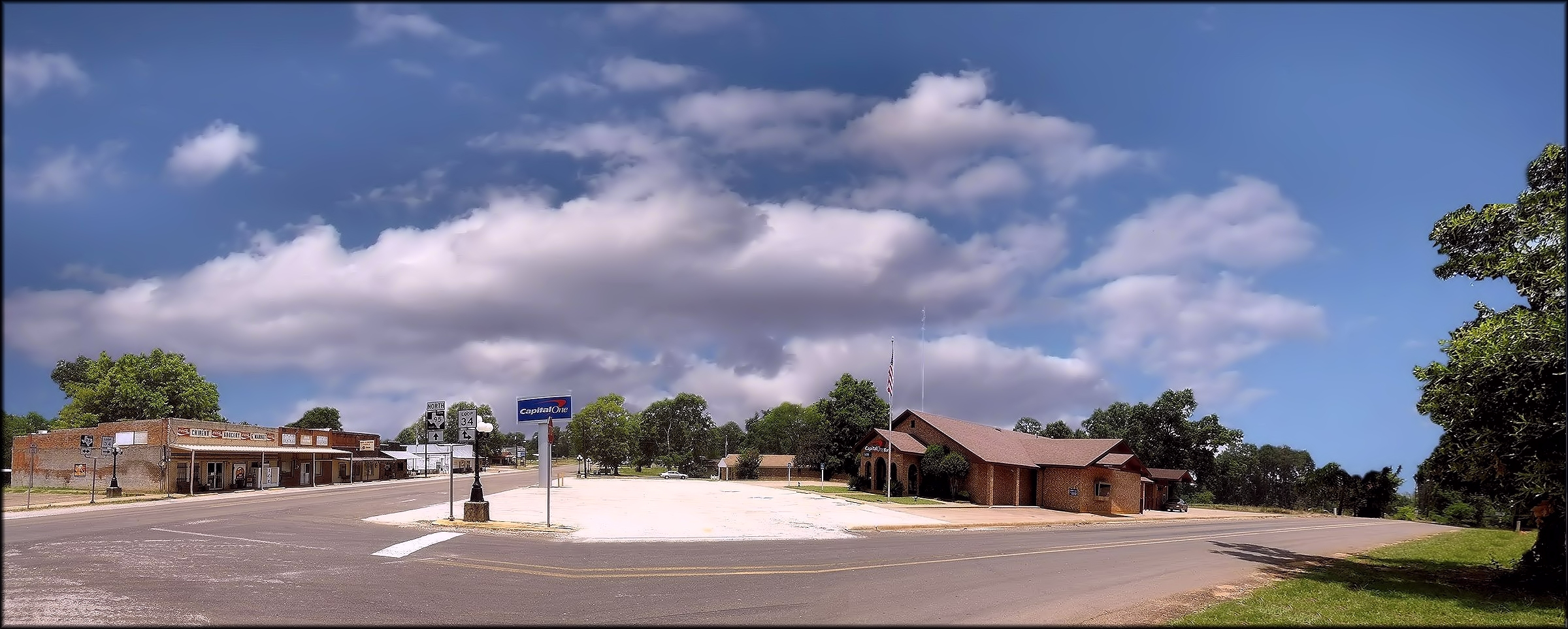 A View of Downtown Chireno, Texas in Nacogdoches County