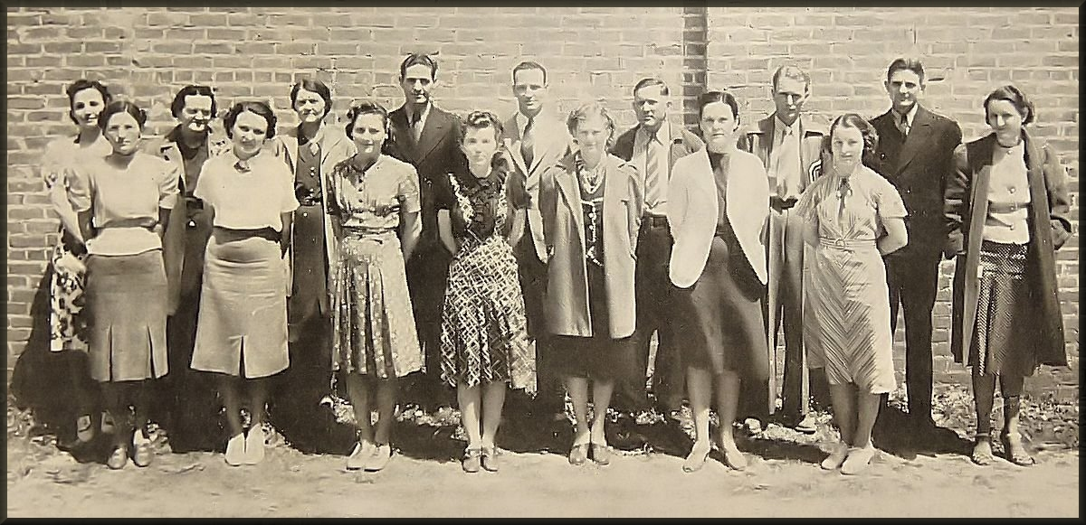 Cushing School Teachers in the 1930's in Cushing, Texas