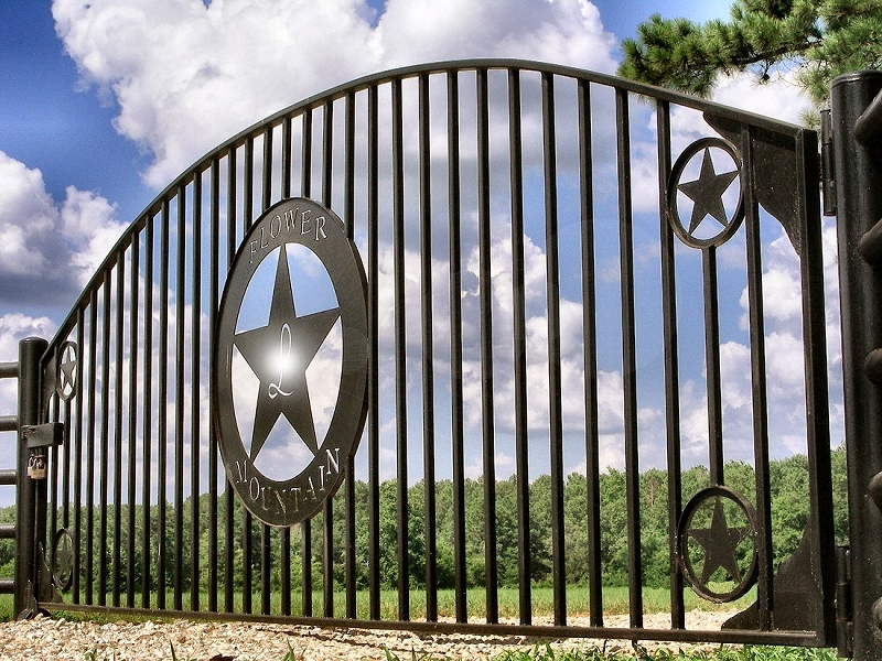 A Gate on Flowery Mountain in Historic Nacogdoches
