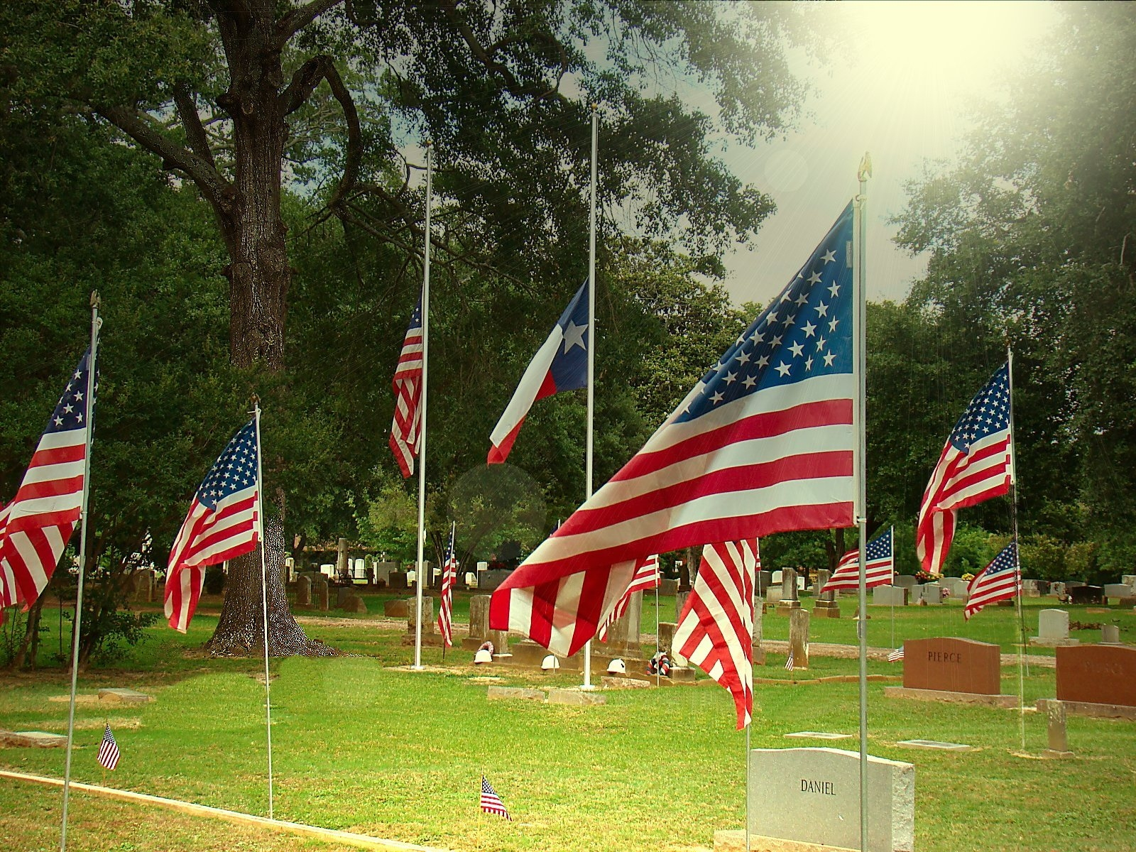 Memorial Day at Oak Grove Cemetery in Historic Nacogdoches