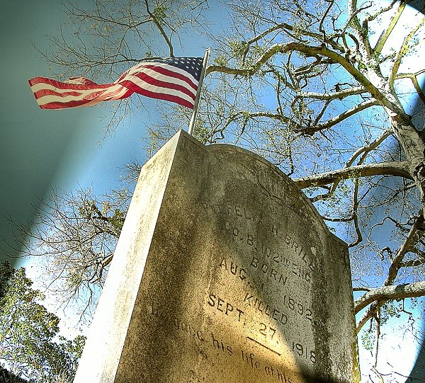 A Veterans Monument at Oak Grove Cemetery in Historic Nacogdoches
