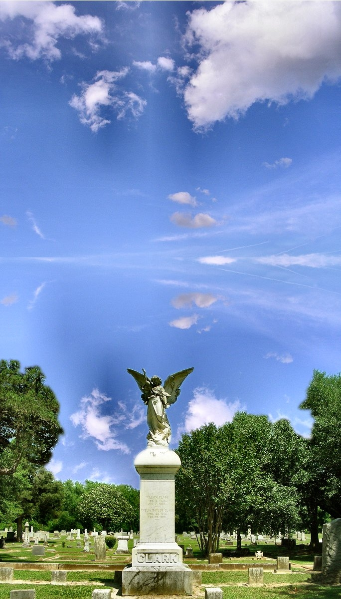 Angel Monument at Oak Grove Cemetery in Historic Nacogdoches