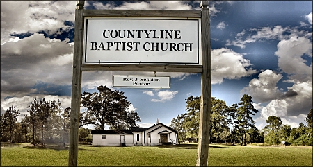 Countyline Baptist  Church in the Upshaw Community