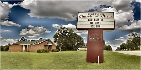 Garrison Church of Christ in Garrison. Texas