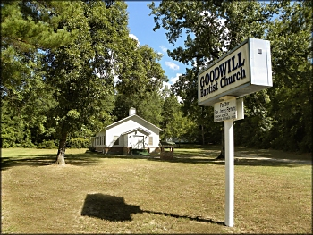 Goodwill Baptist Church on Pine Flat Road in Nacogdoches