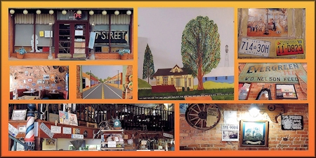 Images from the 7th Street Restaurant in Downtown Cushing, Texas