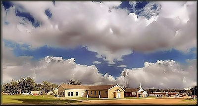 The Cushing Church of Christ on 7th Street in Cushing, Texas