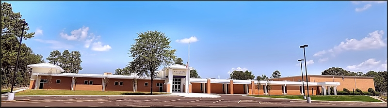 The A. W. Clemons High School at Cushing, Texas in Historic Nacogdoches county