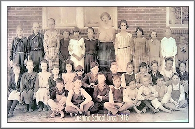 A Cushing School Class of 1918 at Cushing, Texas in Historic Nacogdoches County