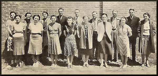 Cushing School Teachers of the 1930's in Cushing, Texas in Historic Nacogdoches County