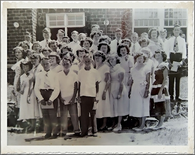 A Graduating School Class at Cushing, Texas in Historic Nacodoches County