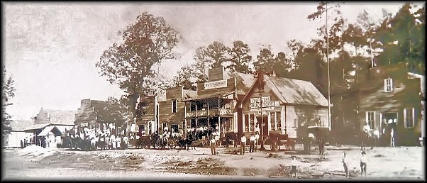 Photograph of Old Town on Oak St. at Cushing, Texas in Nacogdoches County
