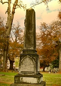 Raguet Obelisk Monument at Oak Grove Cemetery