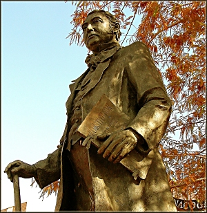 Statue of Thomas J. Rusk in Downtown Historic Nacogdoches