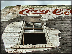 The Coca Cola Mural on South Fredonia St. in Downtown Historic Nacogdoches