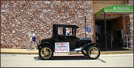 Bob Murphey's 1925 Model T in Downtown Historic Nacogdoches