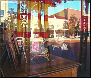 Reflections from a Window in Downtown Historic Nacogdoches