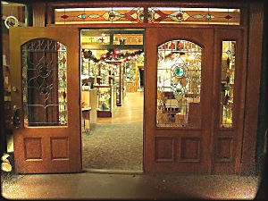 Doorway to Glass Castles in Downtown Historic Nacogdoches