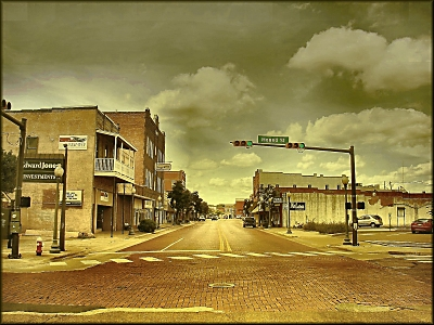 The View from East Main and Mound St. in Downtown Historic Nacogdoches
