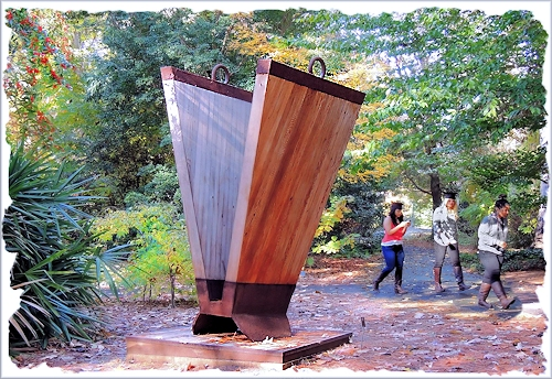 The Sculpture Rolling Keel in the Shade Garden