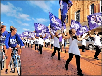 Stephen F. Austin State University Flag Bearers