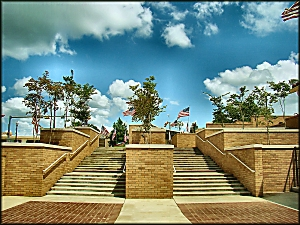 Walkway to Memorial Wall