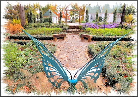 Butterfly Bench in Mimi's Garden at SFA Pineywoods Native Plant Center